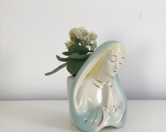 Beautiful vintage madonna planter! 1960s midcentury