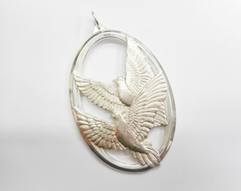 1976 Wallace Sterling Silver Peace On Earth Dove Christmas Ornament #3226