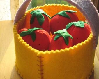 Strawberry fabric BASKET
