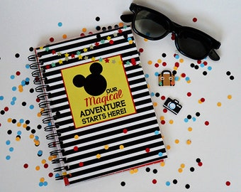 Disney Travel journal-Travel Journal- Travelers notebook- The happiest place in the world vacation travel journal