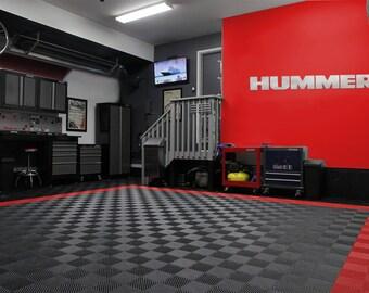 Hummer Garage Sign 6 Feet Long Brushed Silver