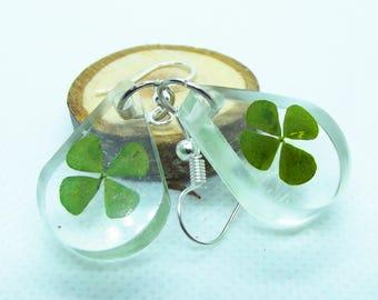 Four- leaf clover earring