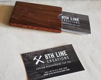 Card Holder,Business Card Holder,Business Card, Pocket Card Holder,Gift Card Holder,Wood Credit Card Holder, Walnut And Lacewood