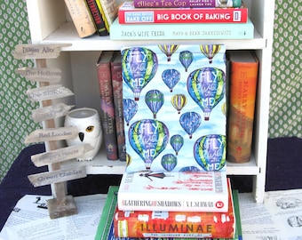 MAXI BOOK SLEEVE- Hot Air Balloon - Book Pouch, Book Protector