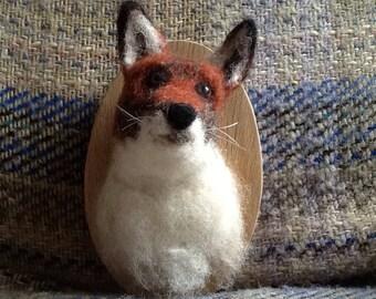 Needle felted Fox plaque