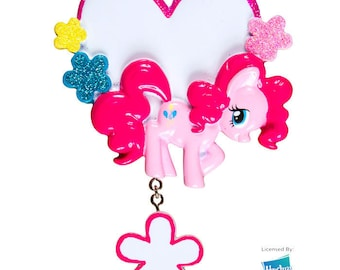 My Little Pony Pinkie Pie Heart Personalized Christmas Ornament - Party Favor Gift Tag Birthday Gift