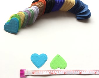 208 Rainbow Colors Heart Die cuts for Any Occasion