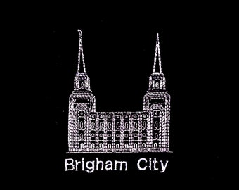 Embroidered Brigham City Temple