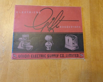 Electrical Gift Suggestion vintage catalogue 1930s