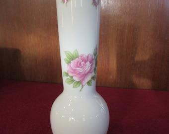 Lefton Pink Rose Vase