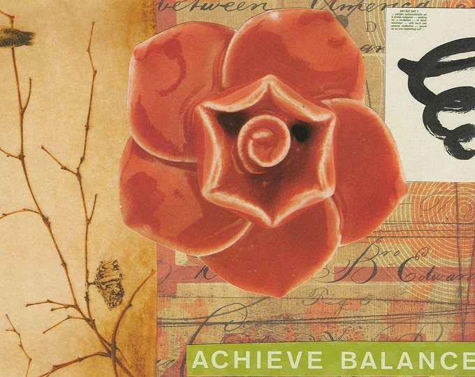 achieve balance digital collage greeting card