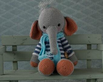 handmade crochet cuddle toy elephant
