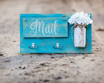 Entry Door Mail Organizer | Catch All- Turquoise