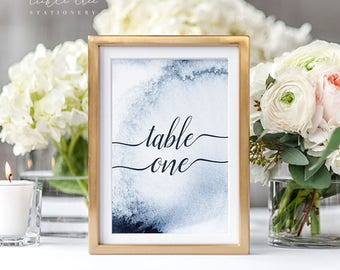 A Whistler Evening - Table Numbers (Style 13760)