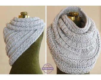 Huntress Cowl, Hand Knit Cowl, Infinity Scarf, Knit Circle Scarf, Eternity Scarf, Winter Accessories, Knit Snood, Fall Neckwarmer