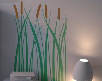 Lake-side Cattails - Vinyl Wall Decal
