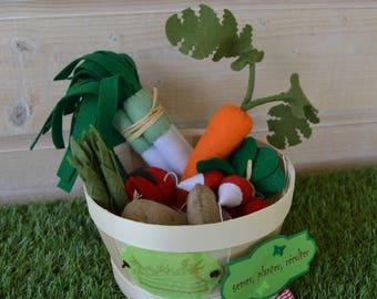 Vegetable basket / market vegetables / game imitation / vegetables to play / vegetable veggies / vegetables felt