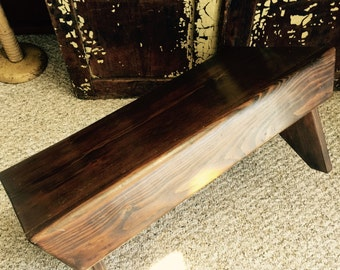Antique// OLD// ALL Handmade// Primitive// AWESOME Bench// Built To Last!