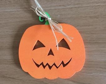 Handmade Halloween pumpkins, ghosts, bats, witches