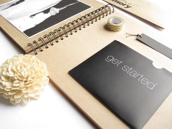 107 x 102 spirale blanc kraft grand album album. Black Bedroom Furniture Sets. Home Design Ideas