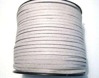 15ft Gray Faux Suede Cord 3mm ( No.126)