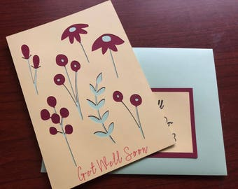 Floral Nature's Get Well Soon Card