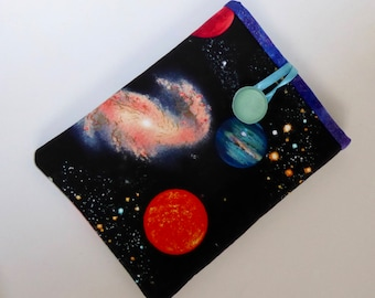 Planet Cover for Kindle, Handmade Planets eReader Case, Space Sleeve for Kindle