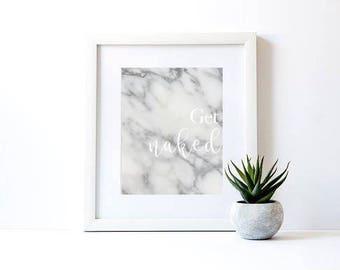 Get Naked - bathroom print
