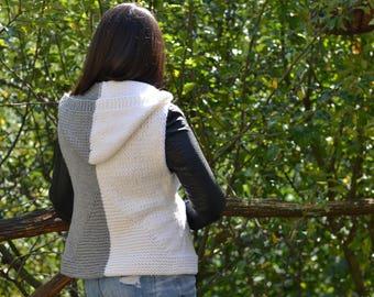 City Vest Knitted - Girls Vest, Spring Vest, Knitted Vest, Cozy Knits, Knit Vest, Layers, Gift for her