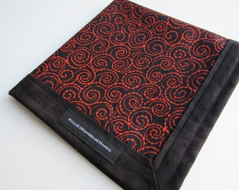 EDC Hank Red and Black Hank Handmade Hank Everyday Carry Pocket Dump Hank Mens Handkerchief Gift for Him Gift for Her