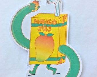 Mango Jus Juicebox - Vinyl Sticker