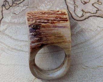 wooden ring, wood, ring