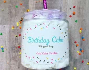 Birthday Cake Soap, Whipped Soap, Birthday Gift, Whipped Bath Soap, Birthday Cake, Birthday Soap, Soap Gifts, Fluffy Soap, Cake Soap, Soap