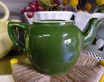 Hall tiny teapot - green glaze