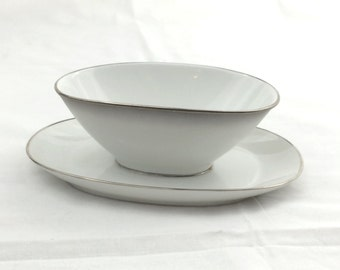 Vintage Rosenthal Gravy Boat with Attached Underplate