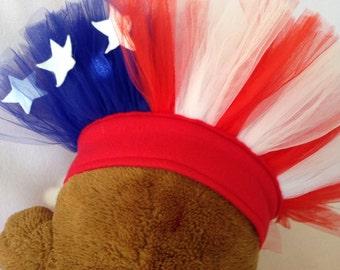 American Flag Dog Tutu Pet Parade Costume Fourth of July Tutu