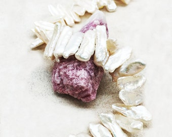 Cultured Freshwater Pearls Flat Rectangular Beads