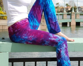 Purple Tie Dye Yoga Pants by Splash Dye Activewear