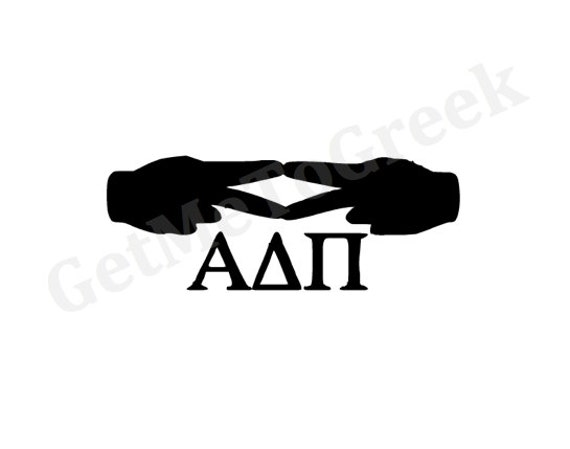 Items Similar To Alpha Delta Pi Hand Sign Decal On Etsy