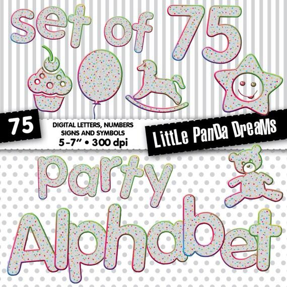 Niños cumpleaños partido alfabeto Color puntos Baby Letras Scrapbook ...