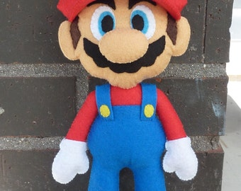 PDF pattern to make a felt Mario Bros.