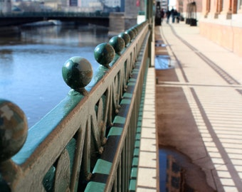 Milwaukee River Walk Riverfront Downtown - Leading Line Spring Fine Art Photo Print Home Wall Decor by Rose Clearfield on Etsy