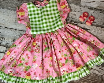 Toddler Girls Strawberry Shortcake Ruffled Dress