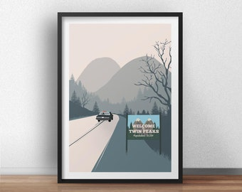 Welcome to Twin Peaks minimalist poster tv serie inspired - Available in different sizes. Check the drop-down menu for your choice.