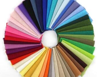 15 Different Color pieces Linen Cotton Fabric Solid Color Bundle Patchwork Squares Of 20*25cm(CTJZ21-FSLS-202515)