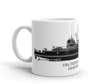 KillerBeeMoto: Ticonderoga Class Cruiser Custom Coffee Mug With Vessel Name Option