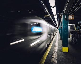 A Train R68 Subway Car at Hoyt-Schermerhorn Sts Subway Station - Brooklyn/New York City (Wall Art Prints)