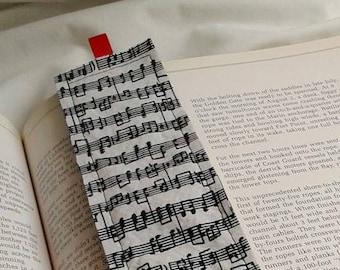 Music Notes Bookmark / Fabric Bookmark / Music / Teacher Appreciation  / Bookmark