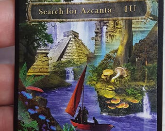 1x Altered Checklist for Search for Azcanta MTG Ixalan