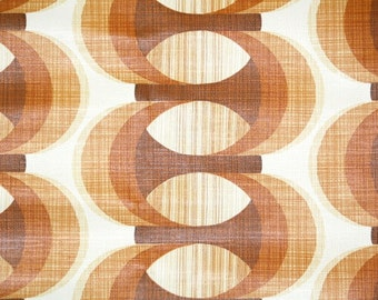 Retro Wallpaper by the Yard 70s Vintage Wallpaper - 1970s Brown and White Mod Geometric Stripes